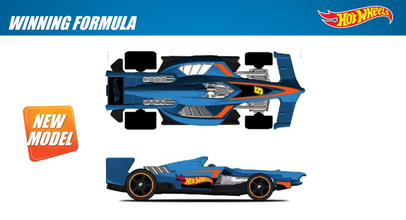 Vỏ hộp đựng Hot Wheels Winning Formula