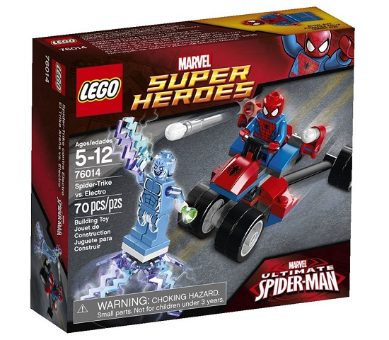 Vỏ hộp sản phẩm Lego Super Herores 76014 - Spider-Trikevs.Electro