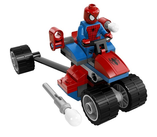 Các chi tiết trong bộ Lego Super Herores 76014 - Spider-Trikevs.Electro