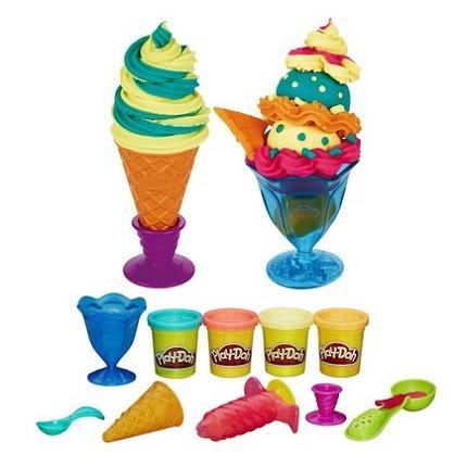 Các chi tiết có trong đồ chơi Play-Doh B1857 - Dụng cụ làm kem đơn giản