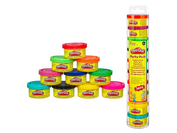 Hình ảnh minh họa cho sản phẩm Play-Doh 22037 - Ống bột nặn 10 màu