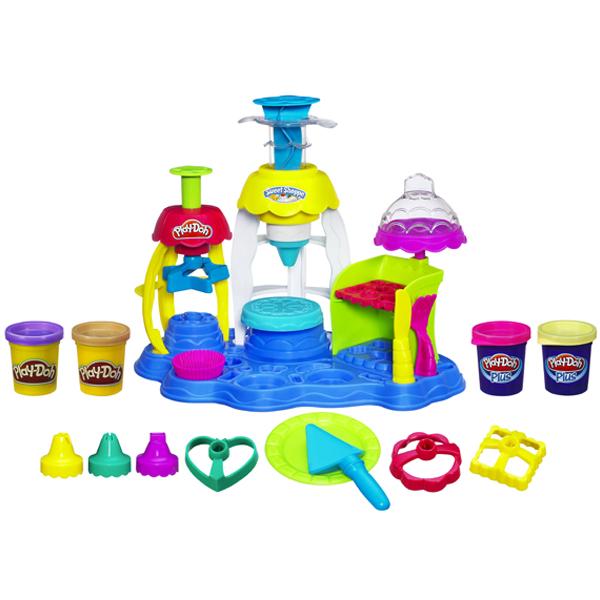 hình ảnh minh họa bộ sản phẩm Play-Doh A0318 - Tiệm bánh vui vẻ