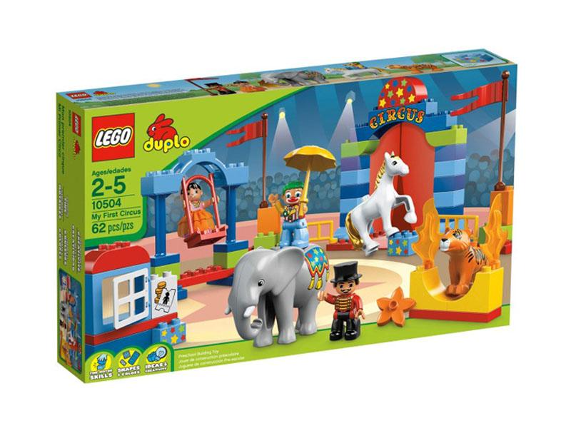 Vỏ ngoài hộp sản phẩm Lego Duplo 10504 - Rạp Xiếc Đầu Tiên
