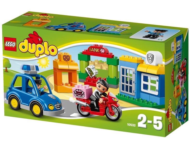 Vỏ hộp sản phẩm Lego Duplo 10532 - Bộ Lắp Ráp Chủ Đề Cảnh Sát Đầu Tiên