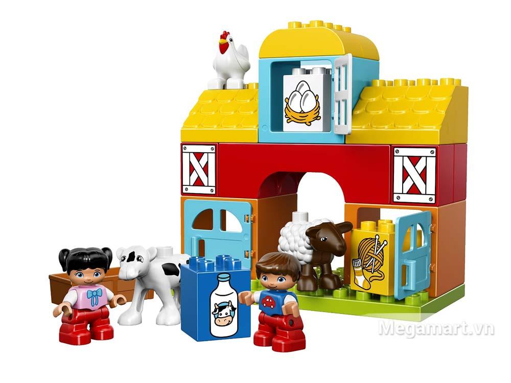 Các chi tiết có trong bộ Lego Duplo 10617 - Nông trại đầu tiên