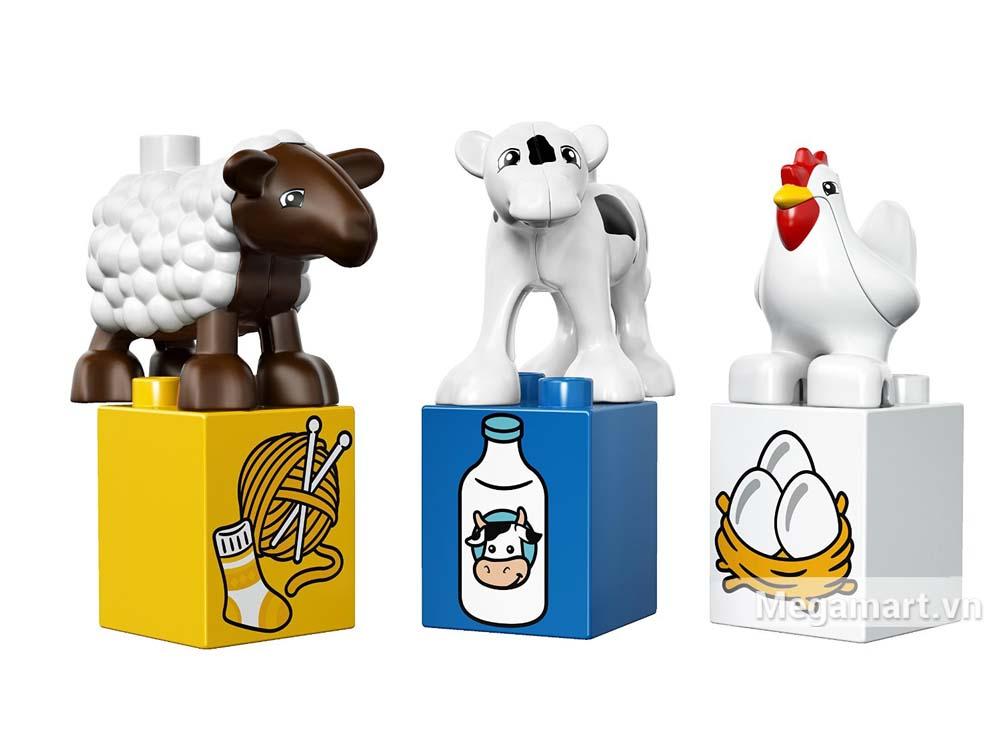 Các con vật trong bộ xếp hình Lego Duplo 10617 - Nông trại đầu tiên