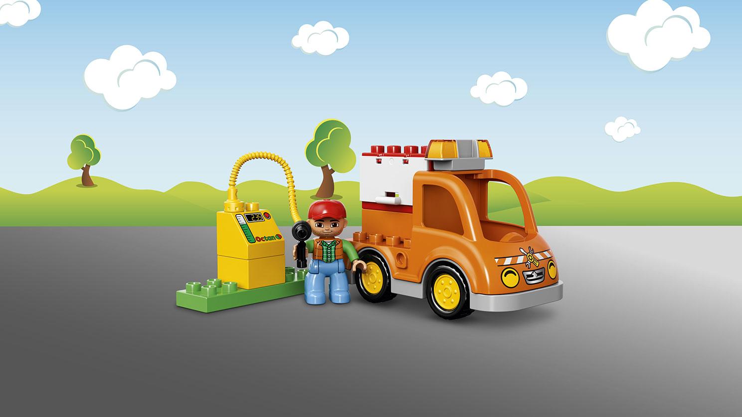 Bộ đồ chơi Lego Duplo 10814 - Xe Tải Cứu Hộ với các chi tiết kích thước lớn