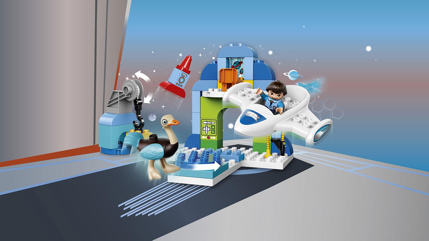 Các chi tiết có trong bộ Lego Duplo 10826 - Trạm Phi Thuyền Của Mile