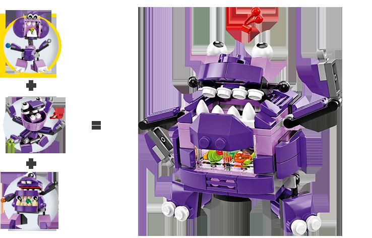 Các chi tiết có trong bộ Lego Mixels 41551 - Sinh Vật Snax