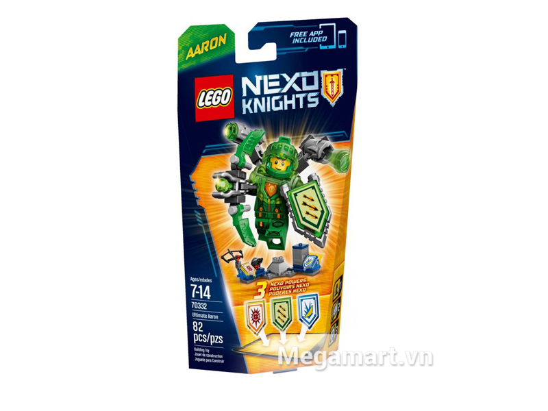 Hình ảnh bộ ghép hình Lego Nexo Knights 70332 - Hiệp Sĩ Aaron dành cho các bé từ 7 đến 14 tuổi