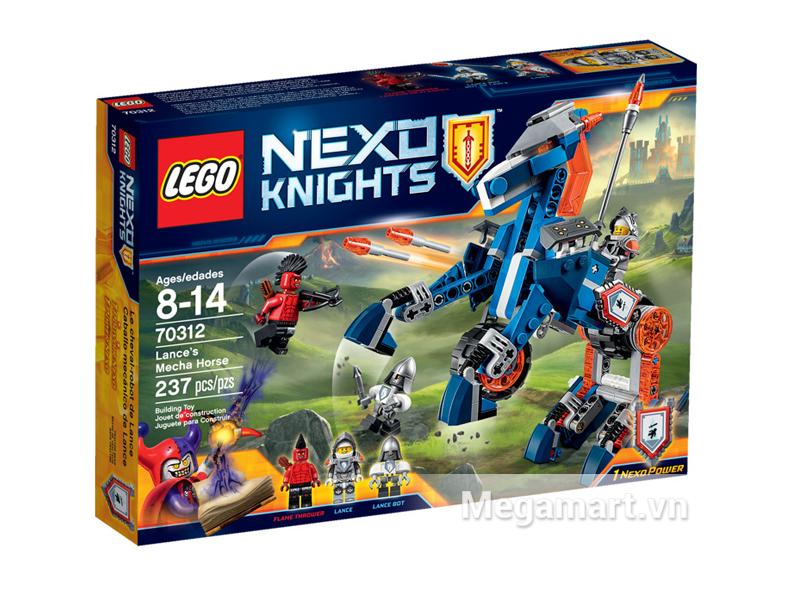 Hình ảnh bộ ghép hình Lego Nexo Knights 70312 - Ngựa Máy Chiến Đấu Của Lance