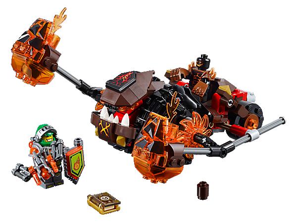 Toàn bộ bộ ghép hình Lego Nexo Knights 70313 - Cỗ Máy Phá Hủy Của Moltor