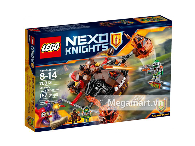 Hình ảnh bộ ghép hình Lego Nexo Knights 70313 - Cỗ Máy Phá Hủy Của Moltor