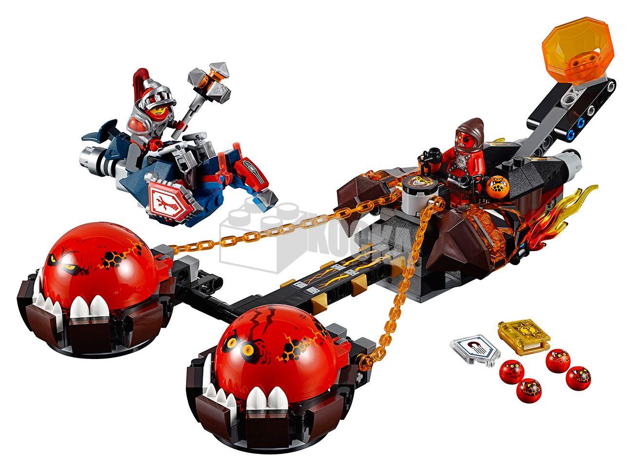 Toàn bộ bộ ghép hình Lego Nexo Knights 70314 - Xe Kéo Hủy Diệt sau khi hoàn thành