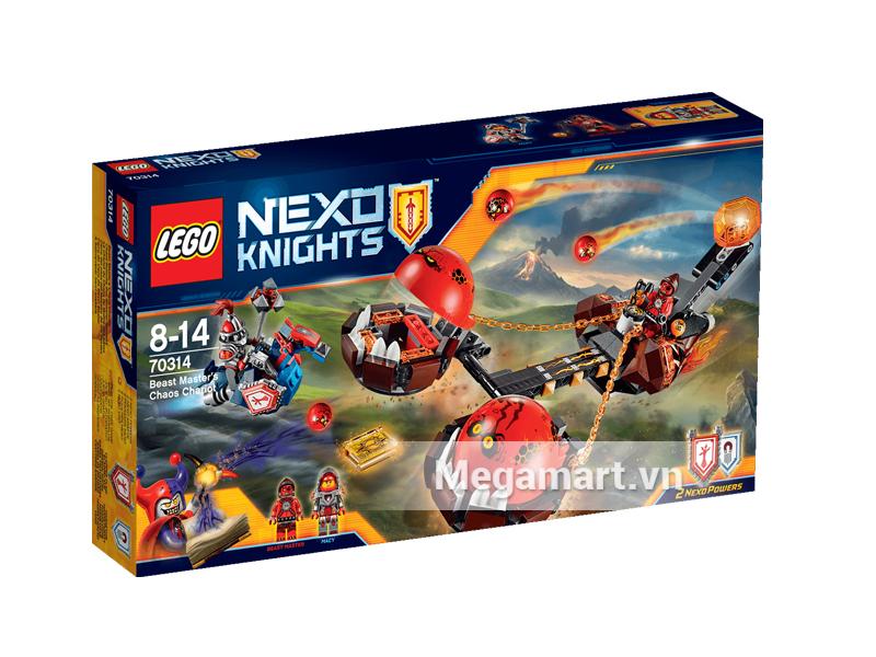 HÌnh ảnh bộ ghép hình Lego Nexo Knights 70314 - Xe Kéo Hủy Diệt