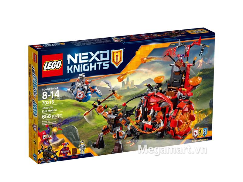 Hình ảnh bộ ghép hình Lego Nexo Knights 70316 - Cỗ Xe Quái Vật Của Jestro
