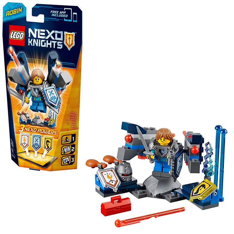 Toàn bộ bộ ghép hình Lego Nexo Knights 70333 - Hiệp Sĩ Tập Sự Robin độc đáo hấp dẫn