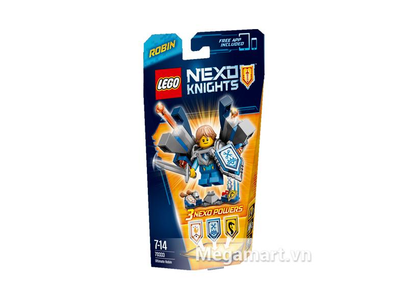 Bộ ghép hình Lego Nexo Knights 70333 - Hiệp Sĩ Tập Sự Robin dành cho các bé từ 7 đến 14 tuổi