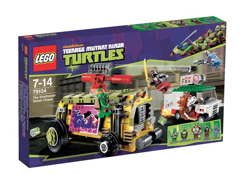 Vỏ hộp sản phẩm Lego Ninja Turtles 79104 - The Shellraiser Street Chase