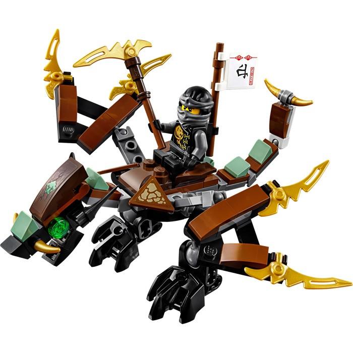 Nhân vật Cole nổi tiếng mưu trí và nhanh nhẹn trong bộ Lego Ninjago 70599