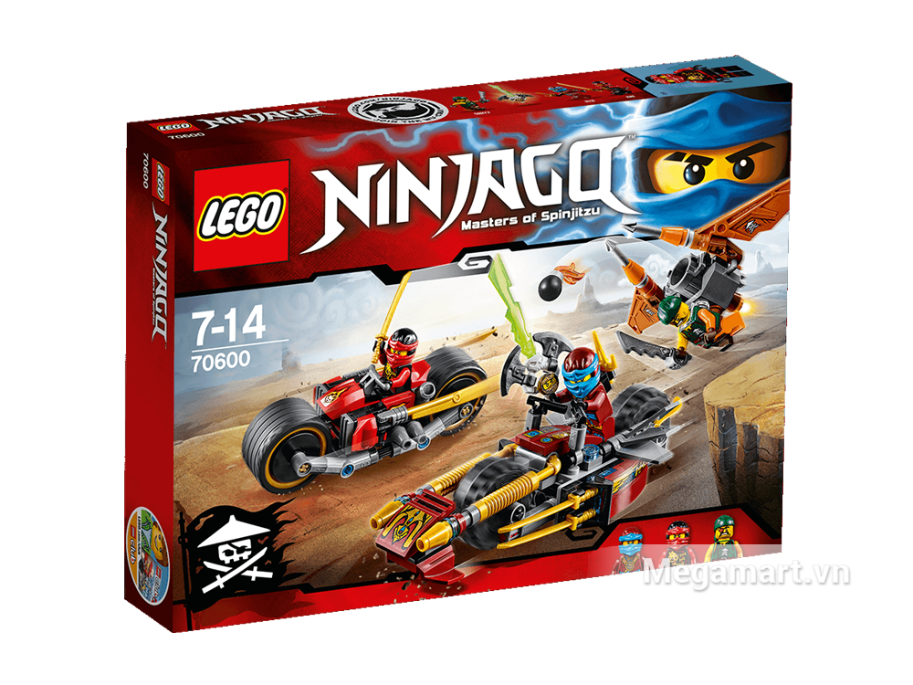 Bộ đồ chơiLego Ninjago 70600 - Xe địa hình Ninja gồm 231 miếng ghép với nhiều mô hình hấp dẫn