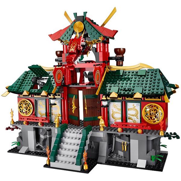 Ngôi đền trong bộ Lego Ninjago 70728 - Trận Chiến Tại Thành Phố Máy Móc