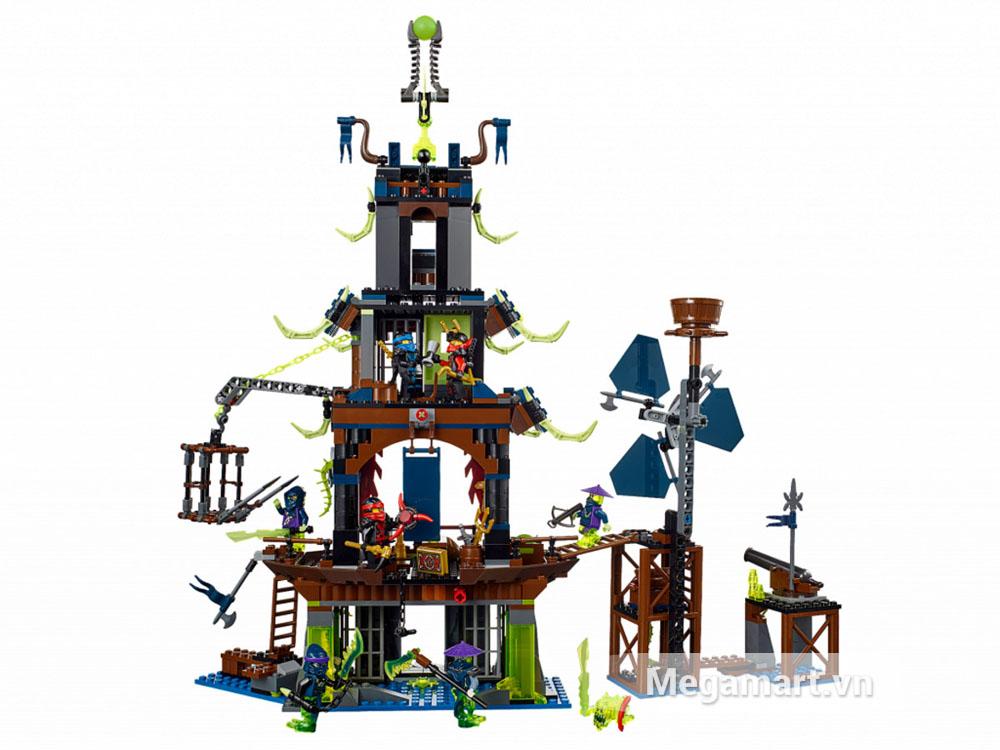 Hình ảnh toàn bộ sản phẩm Lego Ninjago 70732 - Ngôi làng Stiix