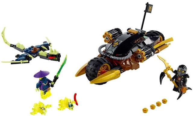 Bộ đồ chơi Lego Ninjago 70733 - Xe phá hủy gồm nhiều chi tiết hấp dẫn với bé trai