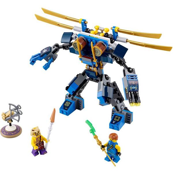 Hình ảnh toàn bộ sản phẩm Lego Ninjago 70754 - Rô Bốt Điện sau khi lắp ghép