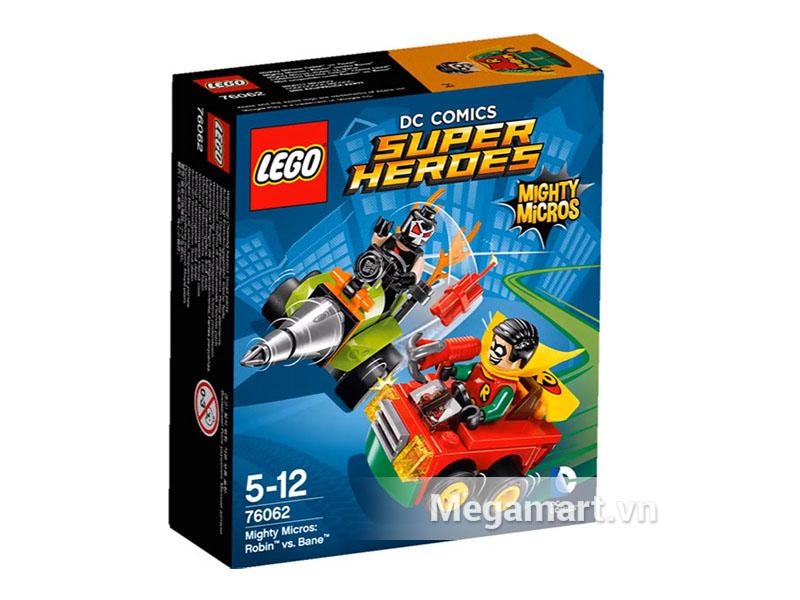 Hình ảnh bộ ghép hình Lego Super Heroes 76062 - Robin Đại Chiến Bane