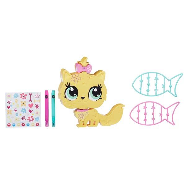 Hình ảnh minh họa cho bộ đồ chơi Littlest Pet Shop Trang trí thú cưng cùng Mèo con