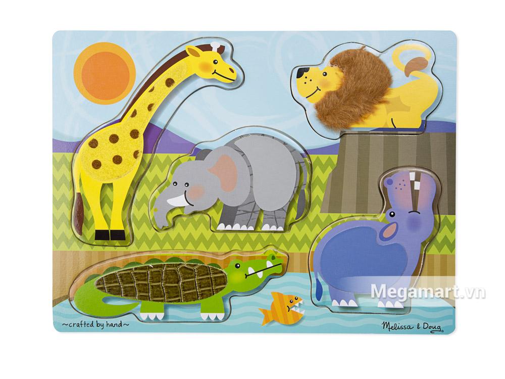 Melissa & Doug Bộ xếp hình mô phỏng động vật hoang dã