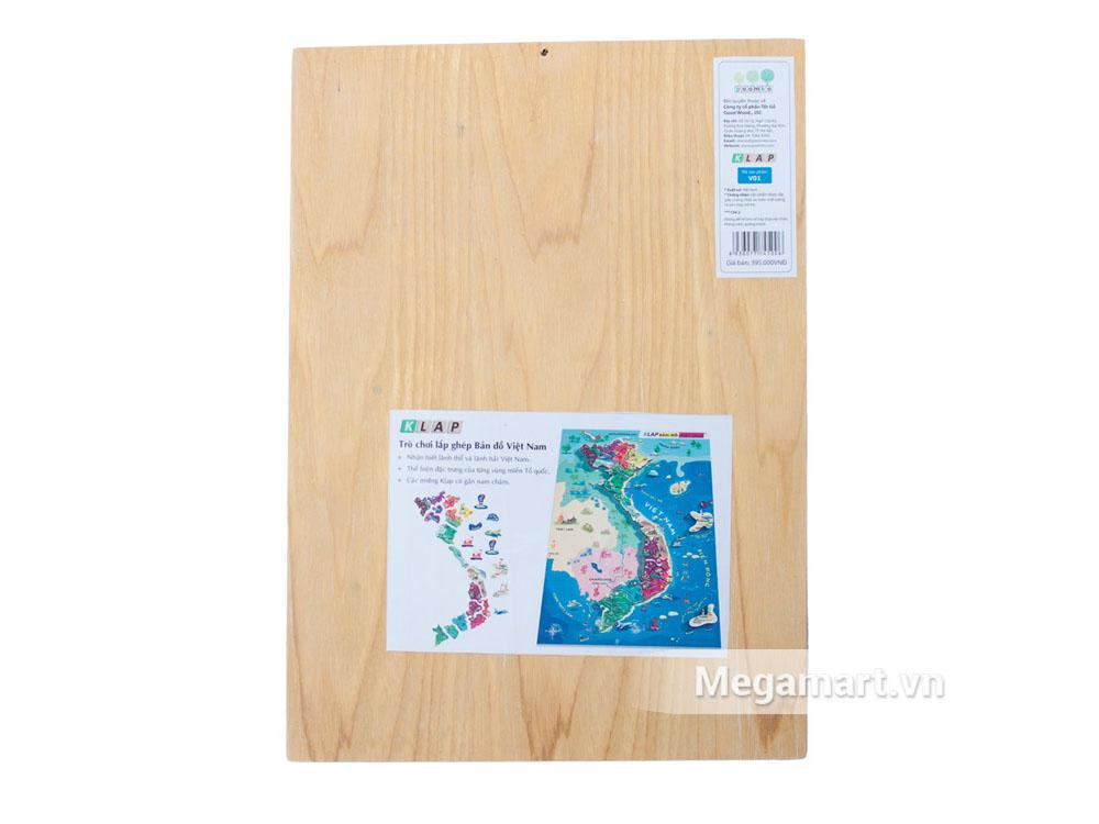 Hình ảnh bên ngoài sản phẩm Poomko Bản đồ Việt Nam và biển đảo A3