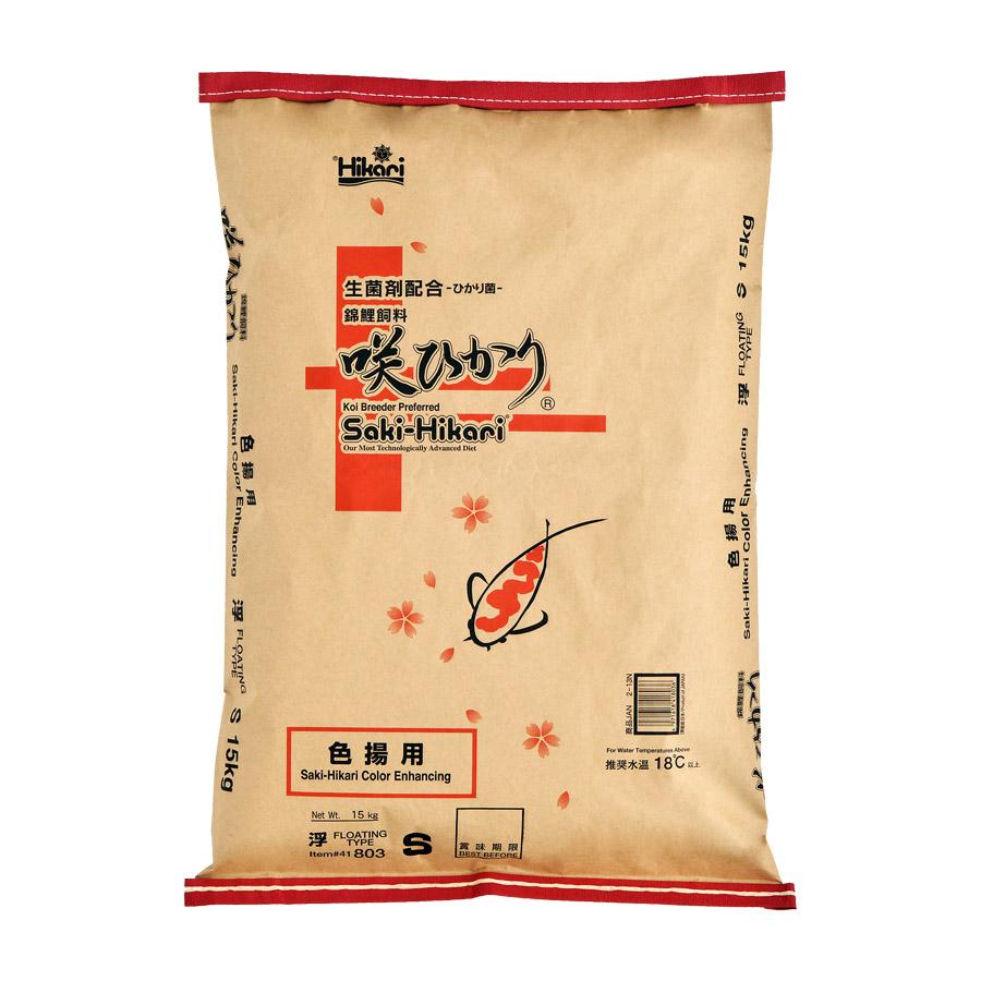 Thức ăn Nhật Bản siêu tăng màu Saki Hikari Color bao 15kg cho cá Koi