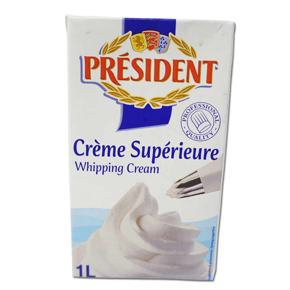 President Whipping Cream 35,1% hộp 1L