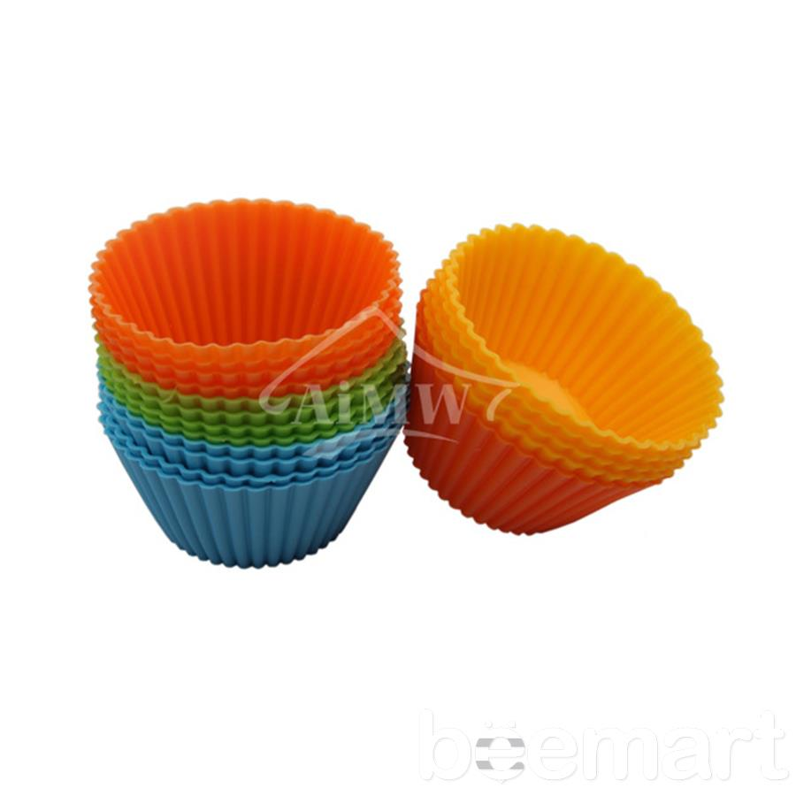 Khuôn cupcake silicon tròn 7cm (12 chiếc)