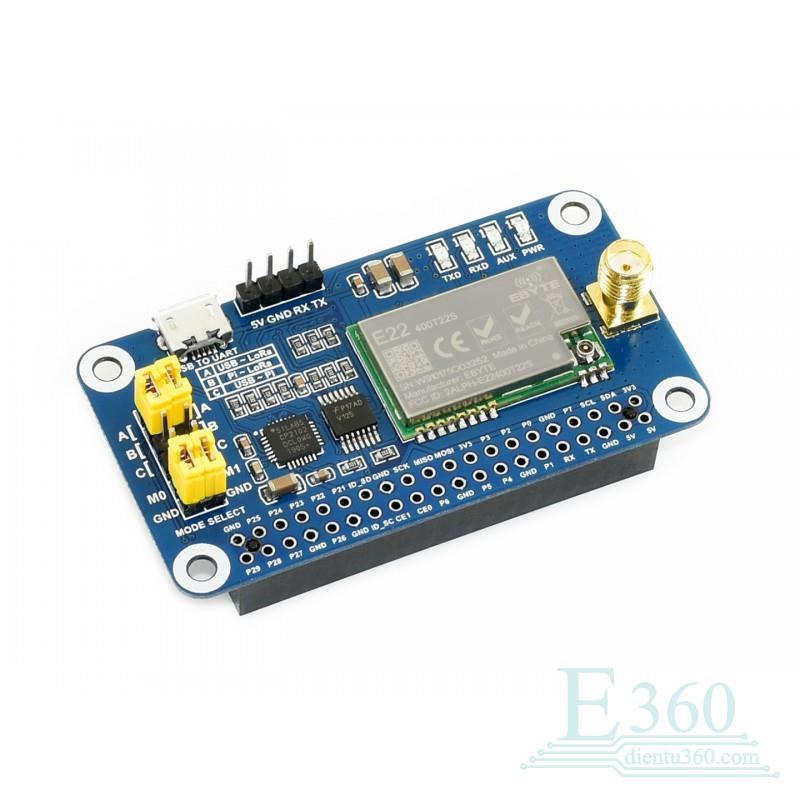 module-truyen-du-lieu-lora-sx1268-dai-tan-433mhz-hat-cho-raspberry-pi-waveshare