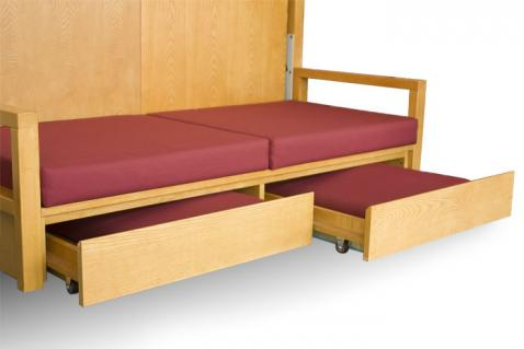 Giường 2 trong 1 sẽ rất tiện dụng cho các gia đình