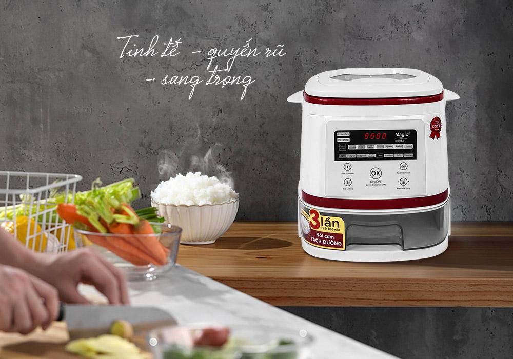 nồi nấu cơm tách đường