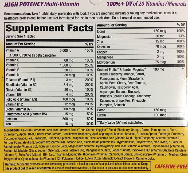 Alive-Woman-cung-cap-vitamin-toan-dien-gymstore-nutrition-facts