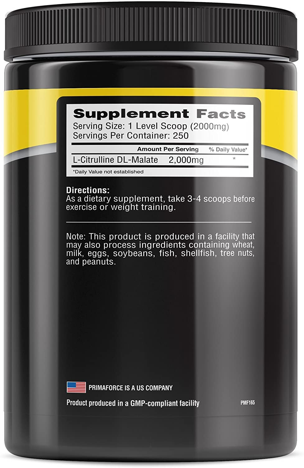 PrimaForce-L-Citrulline-Malate-Nutrition-facts-gymstore