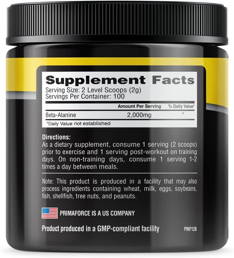 PrimaForce-BetaAlanine-Nutrition-fact-gymstore
