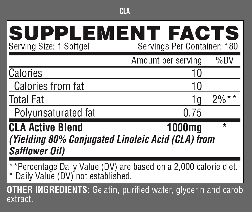 lIPO6-CLA-nutrition-facts-gymstore