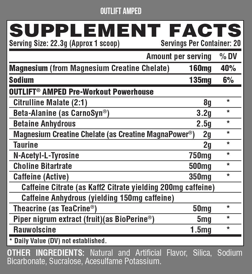 Outlift-Amped-Nutrition-facts-gymstore