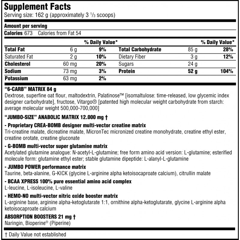 Scitec-Jumbo-Professional-Nutrition-facts-gymstore