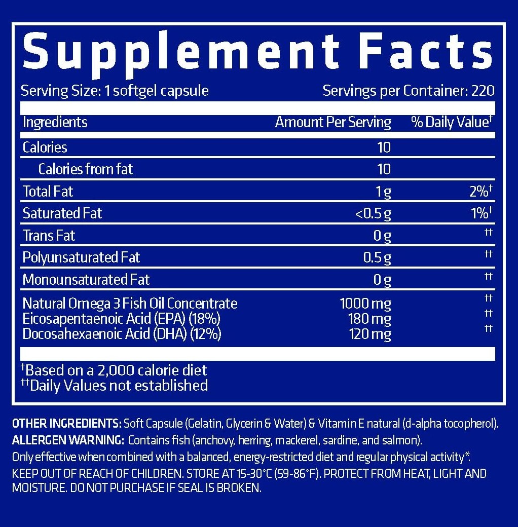 USN-Omega-3-Fish-Oil-Nutrition-facts-gymstore
