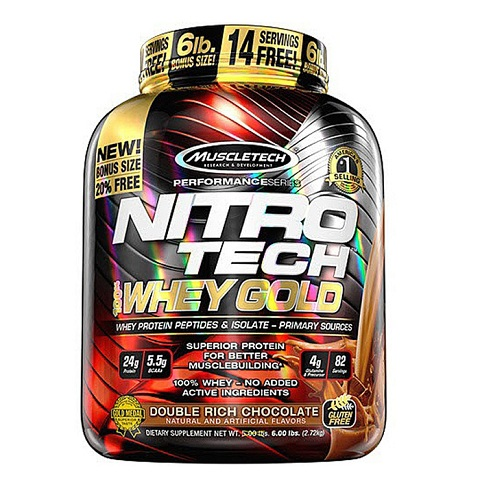 MuscleTech NITRO-TECH 100% Whey Gold, 5.5 Lbs (76 Servings)