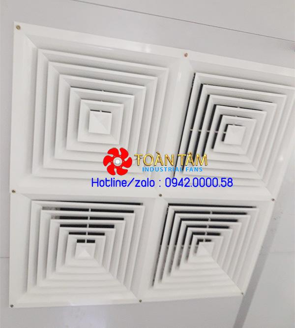 Quạt thông gió gắn trần nhà la phông có nối ống deton AT600-2