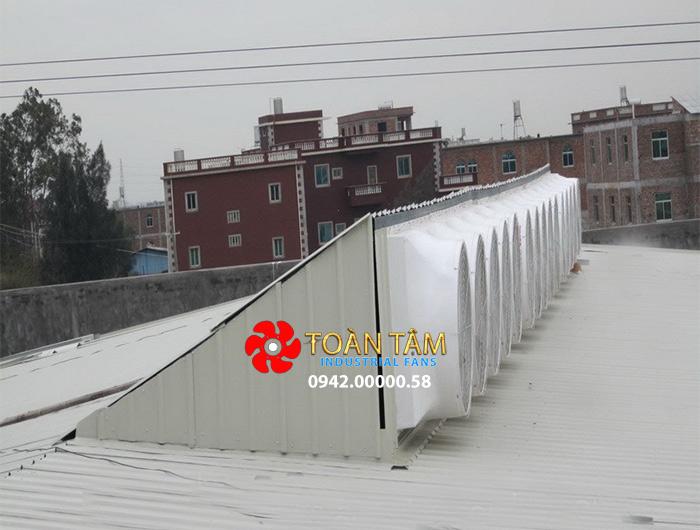 Quạt thông gió vuông nhà xưởng bằng nhựa composite DFC