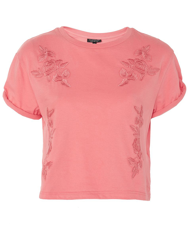 Embroidered T-Shirt Topshop